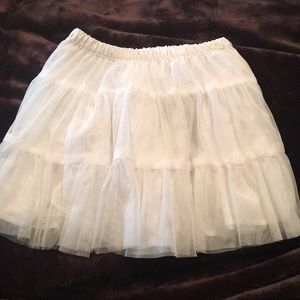 Sz 5 White Tulle Skirt